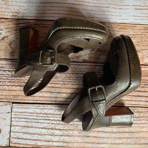 Vintage FRYE leather platform heels